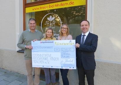 Spendenscheckübergabe Rückenwindlauf 2015 im Business Campus München : Garching