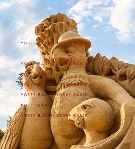 Kunstvolle Arbeiten aus 28 Tonnen Sand